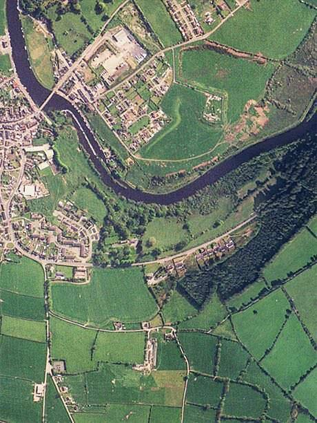 View of Graiguenamanagh from the air